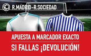 sportium promocion Real Madrid vs Real Sociedad 10 febrero