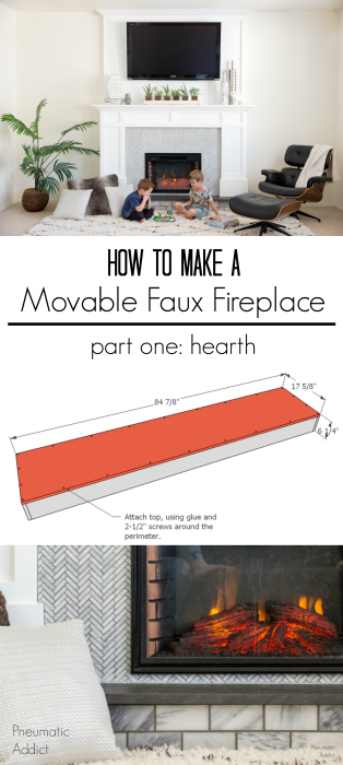 how to make white marble faux fireplace renter friendly over-mantle building plans