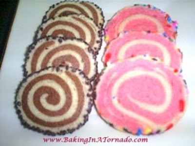 Chocolate and Strawberry Pinwheel Cookies | www.BakingInATornado.com | #recipe