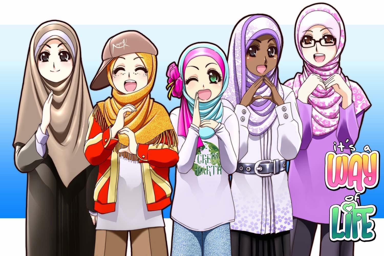Kumpulan Gambar Kartun Muslimah Berempat Kantor Meme