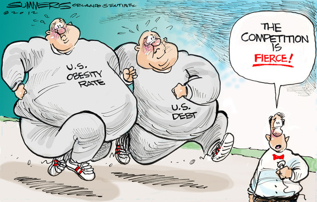 english 306 obesity political cartoon