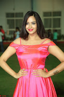 Actress Pujita Ponnada in beautiful red dress at Darshakudu music launch ~ Celebrities Galleries 004.JPG