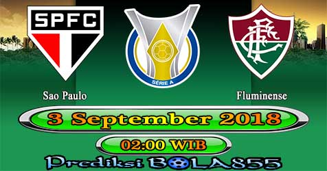 Prediksi Bola855 Sao Paulo vs Fluminense 3 September 2018