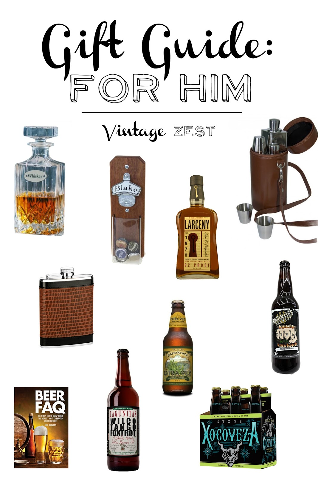 Gift Guide for Him on Diane's Vintage Zest! #giftguide #holiday #shopping #presents #gifts #men