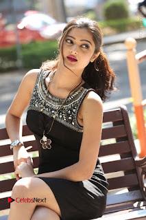 Actress Poojitha Pallavi Naidu Stills in Black Short Dress at Inkenti Nuvve Cheppu Movie Platinum Disc Function  0160.JPG