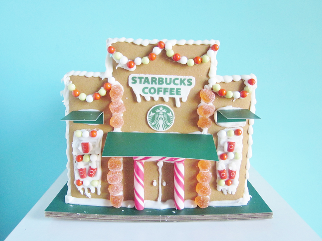 Starbucks Gingerbread House Tour