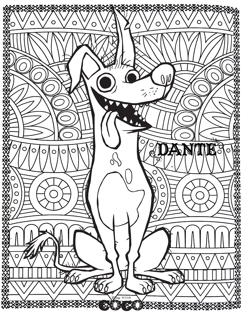 - Coco Coloring Pages Coco Movie Coloring Mandala Coloring Pages