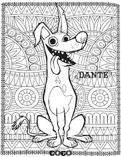 Coco coloring pages | Coco movie coloring mandala