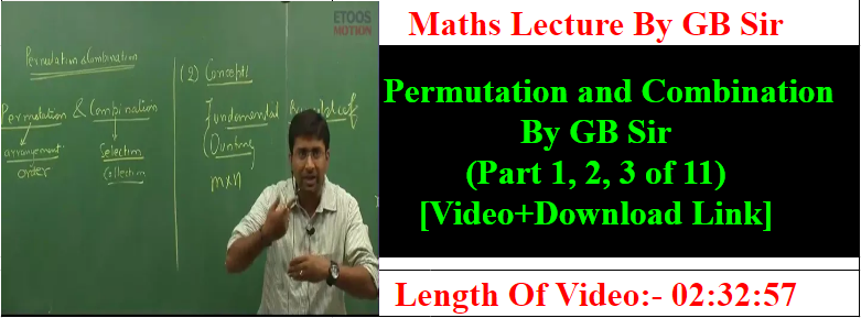Study All Time-SAT : Permutation and Combination By GB Sir
