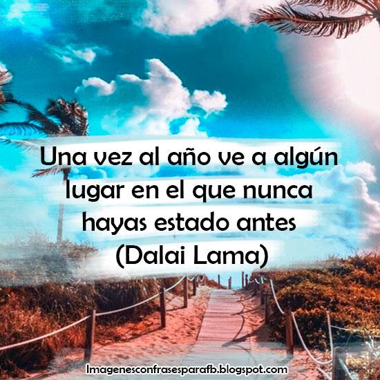 Frase de Daila Lama sobre viajar