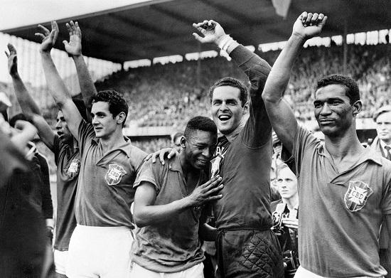 Brazil vô địch World Cup lần đầu năm 1958.