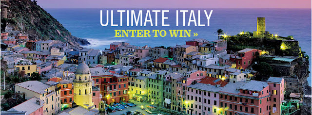 Saveur Magazine has your chance to enter once to win the ultimate tour of Italy vacation for two, worth over $11,000!