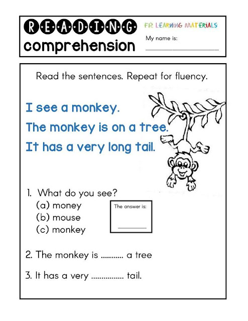early reading comprehension workbooks pdf