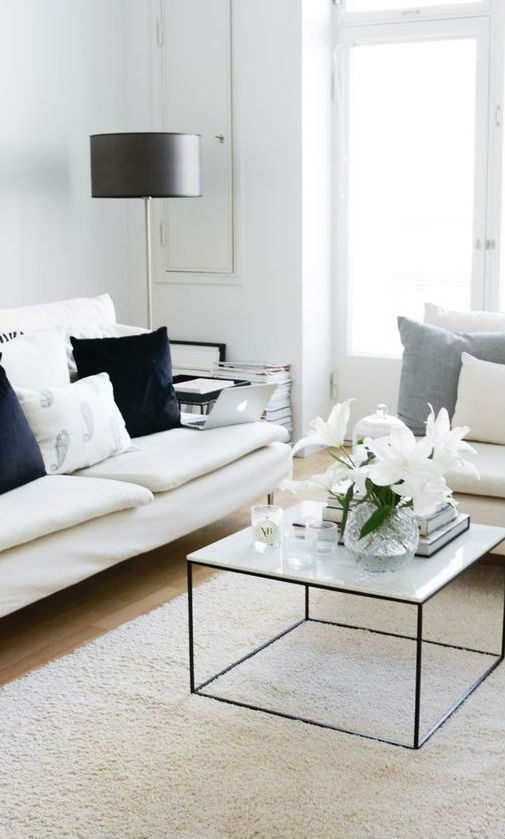 white living room decor inspiration