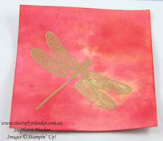#crazycraftersbloghop, Dragonfly Dreams, Awesomely Artistic, Watercolour Background, #thecraftythinker, Stampin Up Australia Demonstrator, Stephanie Fischer, Sydney NSW