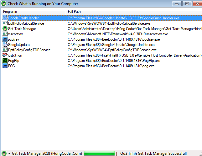 Ứng Dụng Get Full Process Task Manager