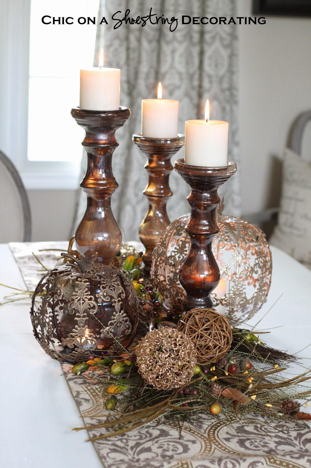 Pretty Dining Room Table Centerpieces
