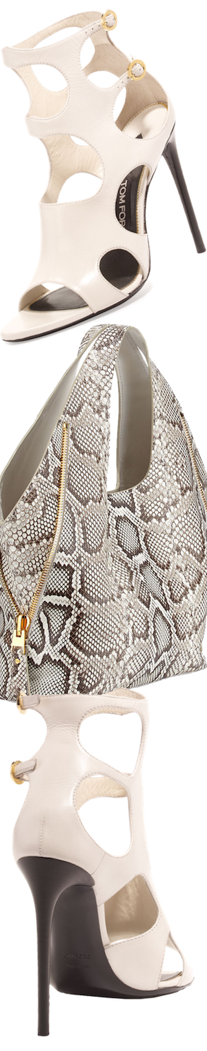 TOM FORD Jennifer Side-Zip Python Hobo Bag