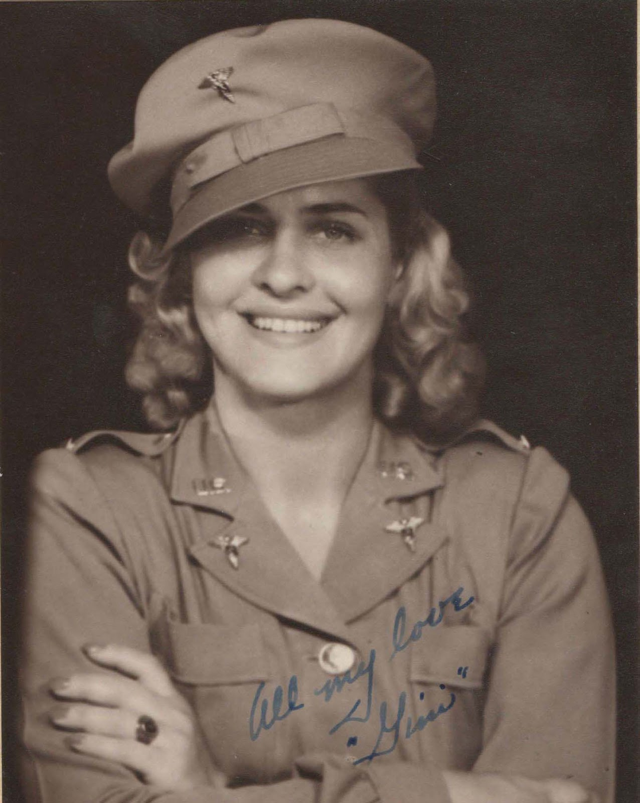 Unfortunately, we don't know who this Army nurse was or why she was wearing US Army threads. Our only information is the postcard itself, that she was in Australia during November 1942 - and she might have been somewhere else in the Pacific. Those look like tropical fatigues. However, whoever or wherever she was... her presence here is appreciated.