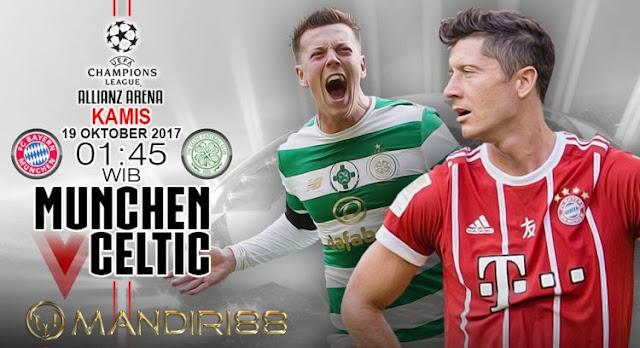 Robert Lewandowski dan Arjen Robben menjadi andalan Bayern Munchen kala menjamu Celtic FC Berita Terhangat Prediksi Bola : Bayern Munchen Vs Celtic FC , Kamis 19 Oktober 2017 Pukul 01.45 WIB