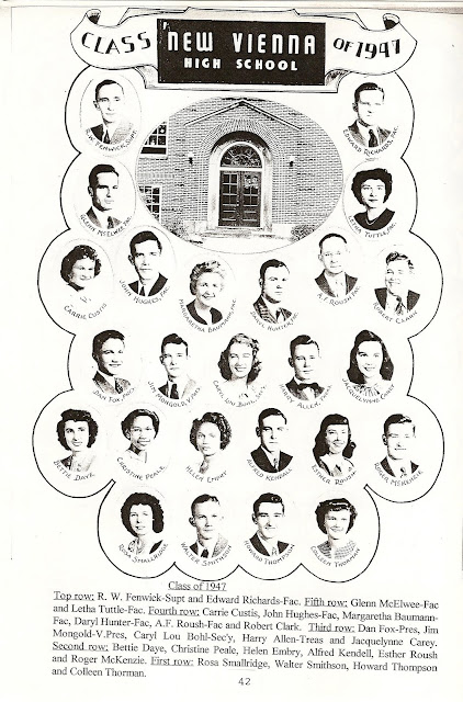 New Vienna Ohio Memories: NVHS [Ohio] Class of 1947 in 5th