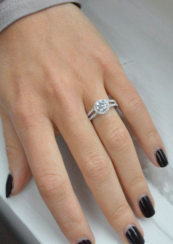 Classic Diamond Wedding Engagement Rings Jewelry Split Shank
