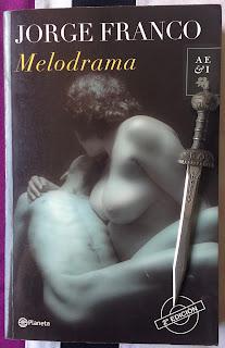 Portada del libro Melodrama, de Jorge Franco