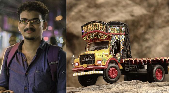 Rahul Vengoor and Lorry Miniature craft