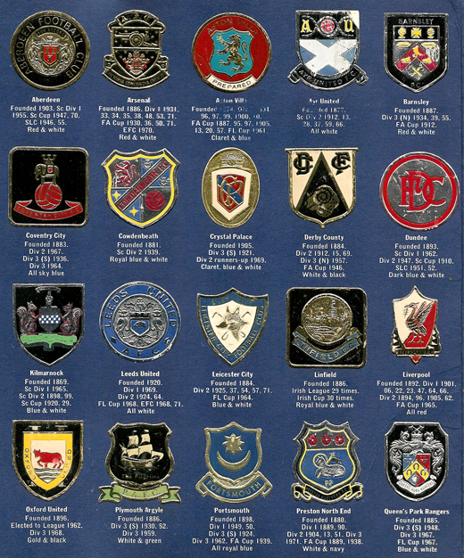 The Esso Collection of Football Club Badges, 1972 ~ The