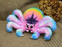 Plush spider by Alvamade Toys.