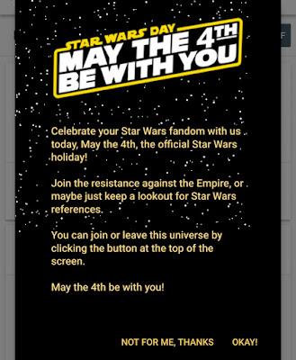 Aneh, Keluarnya Ikon Star War di Webmaster tools Google