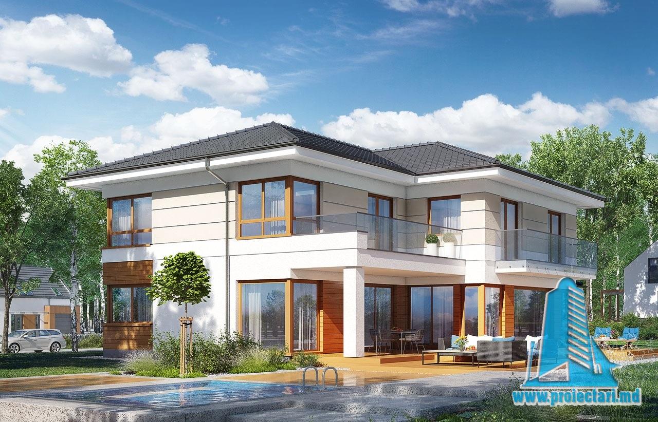 Proiecte de case casa cu parter etaj si garaj pentru doua for Case cu etaj si garaj