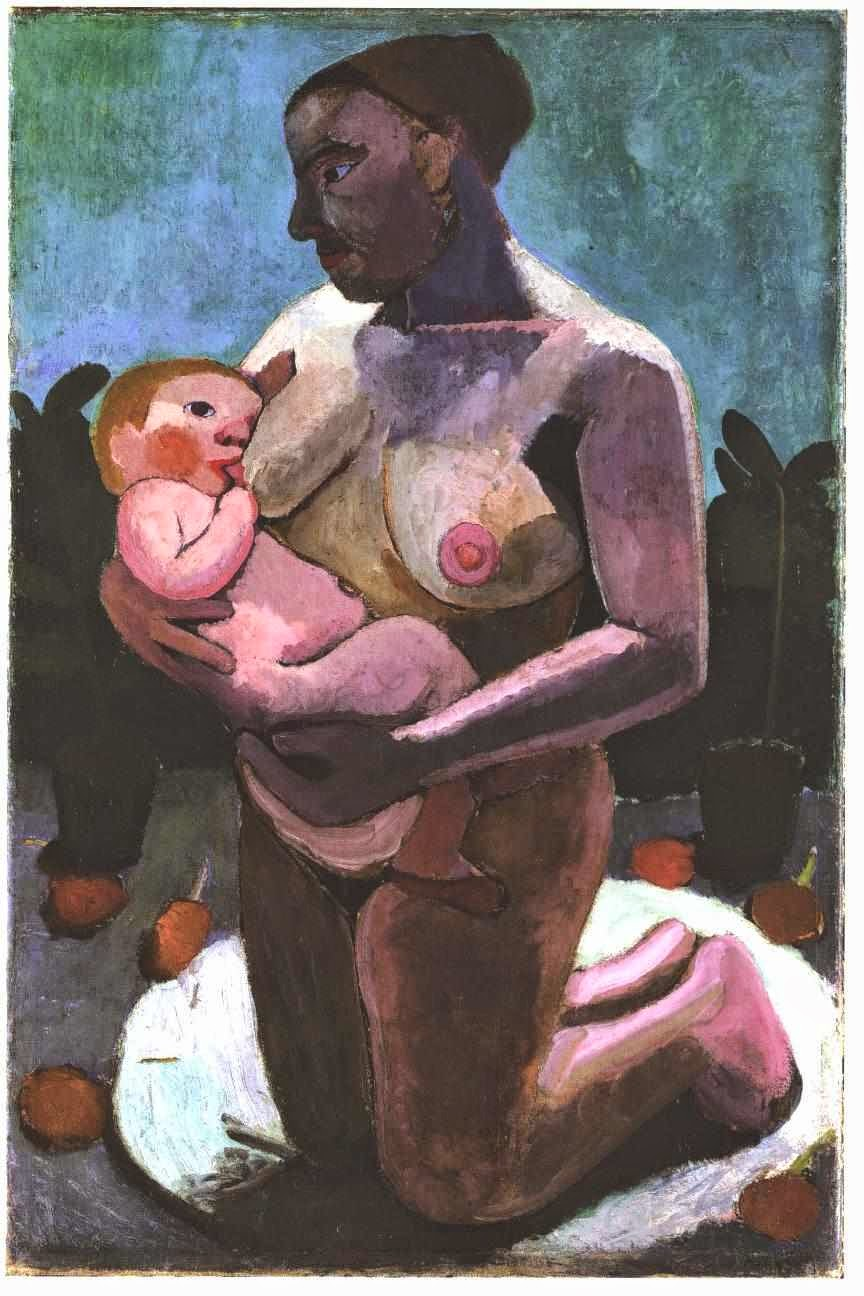 Kneeling Breast Feeding Mother, Paula Mondersohn-Becker