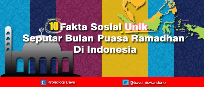 10 Fakta Sosial Unik Seputar Bulan Puasa Ramadhan Di Indonesia, fakta seputar bulan puasa, Kejadian unik seputar bulan puasa