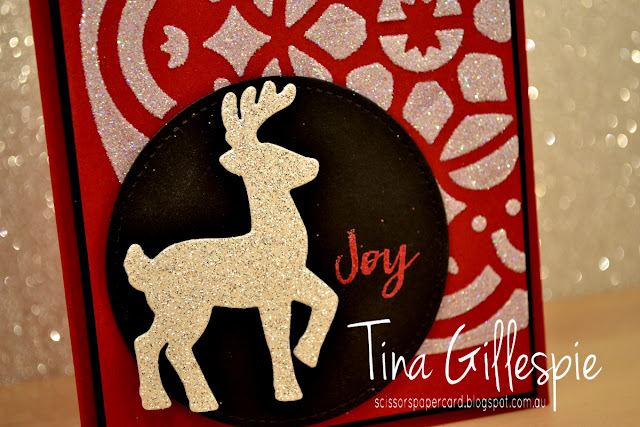 scissorspapercard, Stampin' Up!, Santa's Sleigh Framelits, Hearts Come Home, Stitched Shapes Framelits, Embossing Paste, Christmas