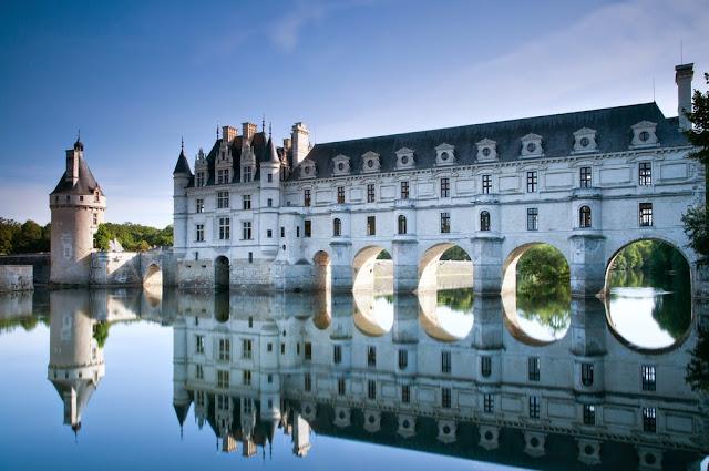 Castelo Chenonceau no Vale do Loire na França
