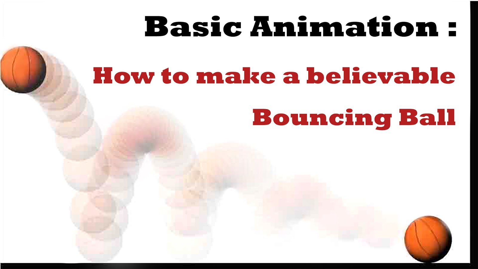 basic animation how to make a believable bouncing ball andrew