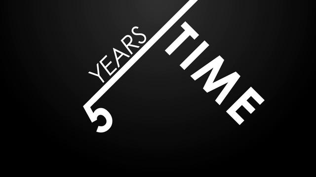 five years time