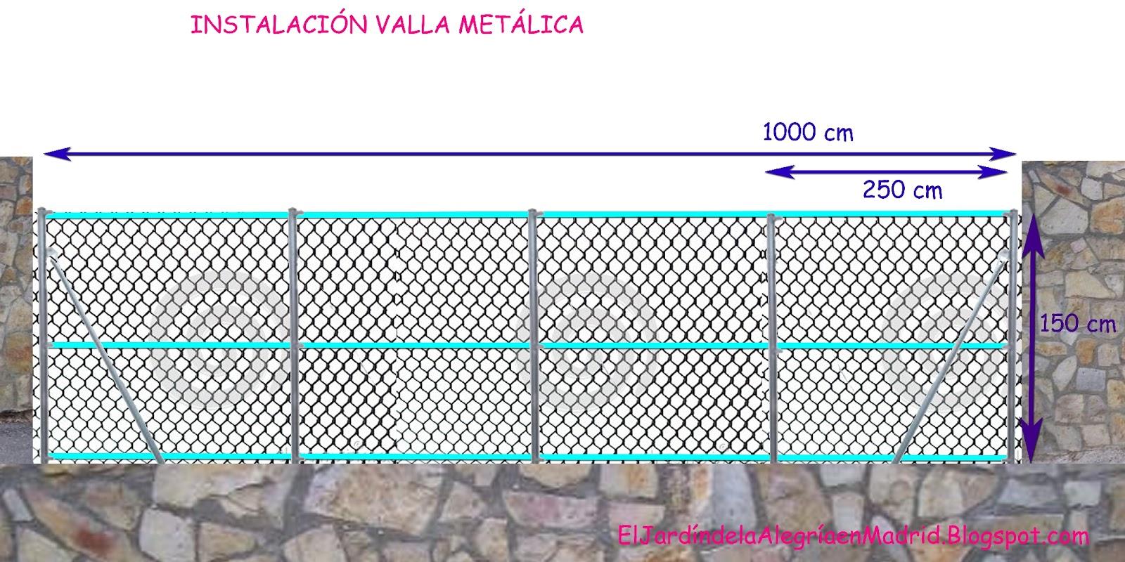El jardn de la alegra Cmo instalar una valla metlica en el