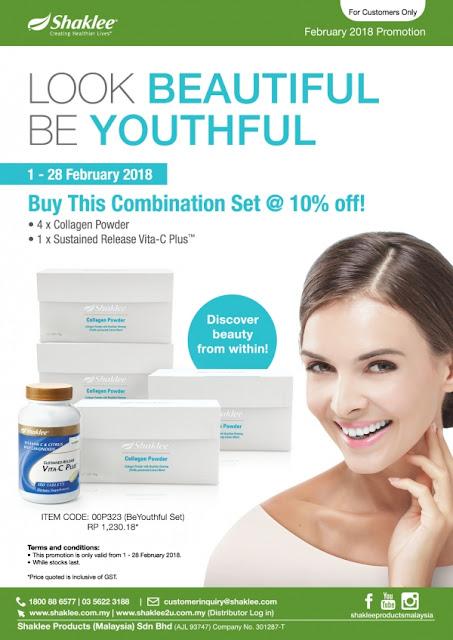 promosi collagen dan vitamin c shaklee 2018, promosi 10% diskaun shaklee 2018,