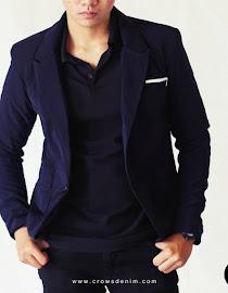 indonesia shop blue skinny suit blazer sk84