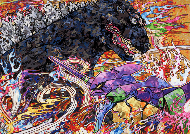 Takashi Murakami 村上隆 (Japan) - Godzilla vs Eva art