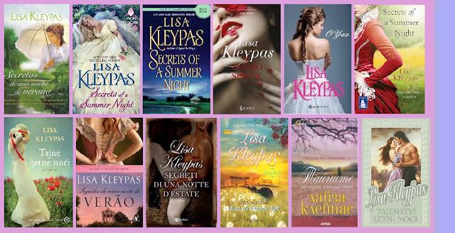 portadas del libro Secretos de una noche de verano, de Lisa Kleypas