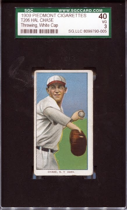 eed0fab9093 Caption  This is a picture of one of Hal Chase s T206 cards from 1909 that  I own (he had several different cards in the set). Chase played for the New  York ...