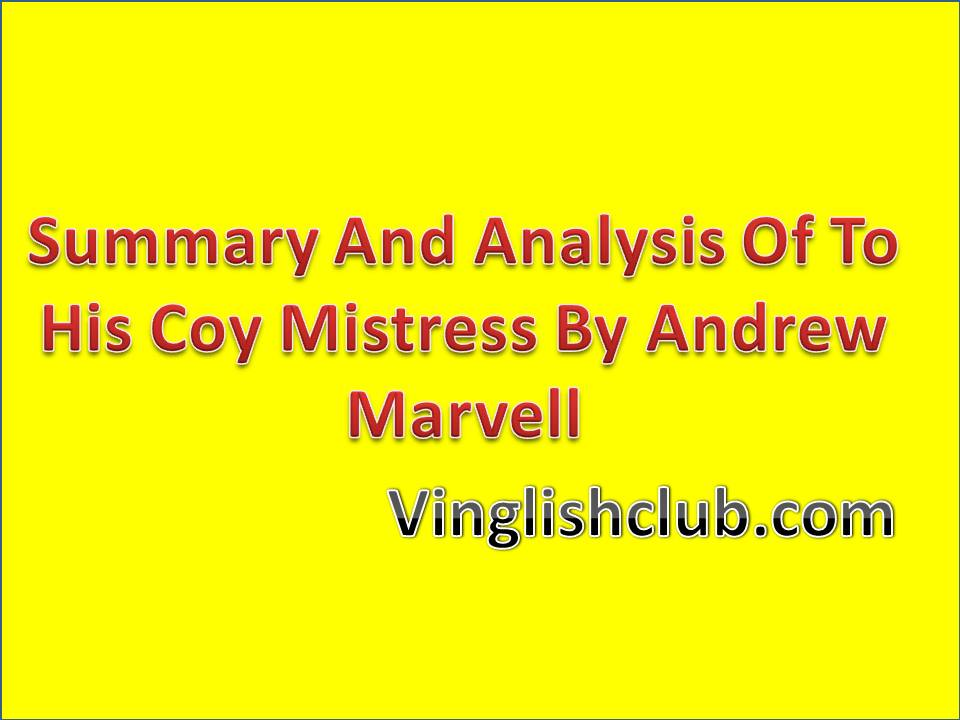 the theme of time in his coy mistress by marvell
