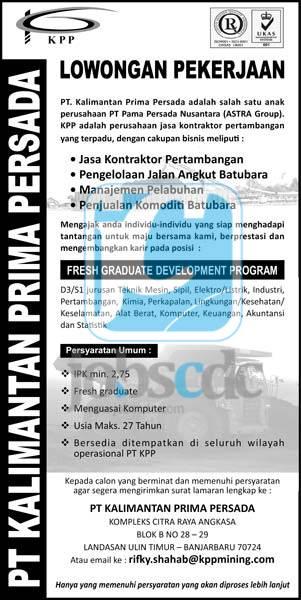 Loker Tambang Buat Fresh Graduate Februari 2013 Ngantor Fresh Graduate Development Program Februari 2013 Terbaru Oktober 2014