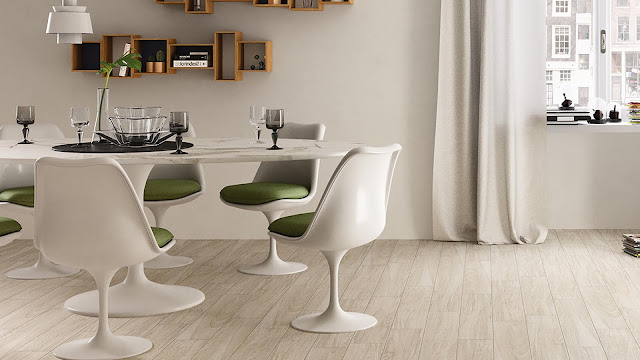 Italian porcelain tile for dining room with NATURALIA collection