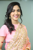 Actress Ritu Varma Pos in Beautiful Pink Anarkali Dress at at Keshava Movie Interview .COM 0142.JPG