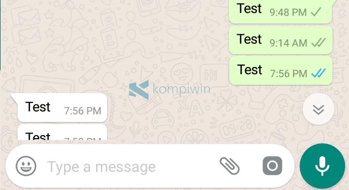chat whatsapp centang checklist ceklis