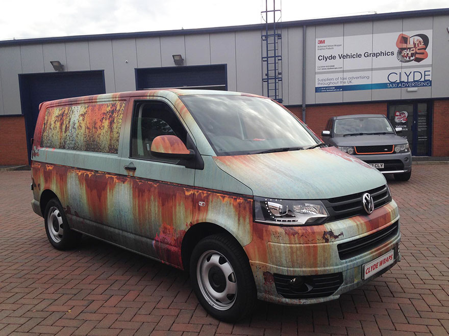 09-Clyde Wraps-Car-Vinyl-Wrap-with-the-Rust-Treatment-www-designstack-co
